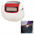 "Solar Powered 1.05"" LCD Electronic Pedometer w/ Calorie Calculation - White + Red + Black"