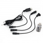 16 in 1 USB Flight Simulator Cable Dongl for R/C Helicopter - Black