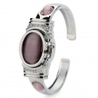 Fashion Opal Zinc Alloy Quartz Wrist Watch for Women - Light Pink + Silver (1 x SR626)