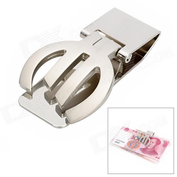 Euro Style Stainless Steel Money Clip Card holder - Silver