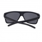 Fashion Big Matte Frame UV400 Protection Resin Lens Sunglasses - Matte Black + Deep Grey Blue