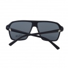 Retro PC Frame UV400 Protection Resin Lens Sunglasses - Black + Deep Grey Blue