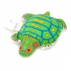 Durable Cut Tortoise Style Canvas Catnip Pet Dog Cat Toy - Green + Yellow + Black