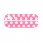 Replacement Dot Pattern Top + Bottom Glass Back Cover for iPhone 5 - Deep Pink + White