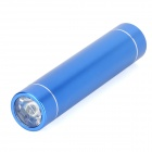Rechargeable 2600mAh External Power Bank w / Flashlight for iPhone / iPad / iPod / BlackBerry - Blue
