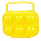 Protective ABS 6-Section Egg Storage Case - Yellow