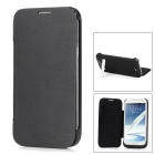External 4200mAh Back Case Battery w/ Stand for Galaxy Note 2 / N7100 - Black