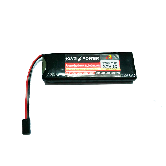 "LA2000-1S-8 3.7V ""2200mAh"" Li-ion Polymer Battery for WFT07 Remote Control - Black"