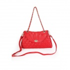 New Apaesiton Women's Fashion Cowhide Shoulder Bag - Red