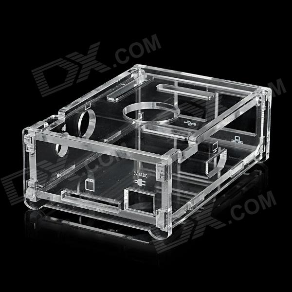 SMPD01 Protective Acrylic 6-Layer Storage Case for Raspberry Pi - Transparent black 9 layer transparent acrylic shell sub chassis protective shell 3 2 1b screws with raspberry pie