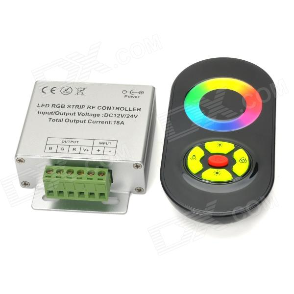 все цены на 3-CH RF Wireless Touch 5-Key Remote Controller for LED RGB Light Strip - Black + Silver онлайн