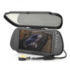 "RD1170 7.0"" LCD Car Clip-On Flip-Open Rearview Mirror Monitor Display - Black"