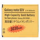 Replacement 3.7V 3030mAh Dual Core Decoding Battery for Samsung Galaxy S4 i9500 - Golden