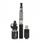 W-Q019 650mAh Stainless Steel Battery Pole w/ Wild Strawberry Flavor Tobacco Tar Oil - Black