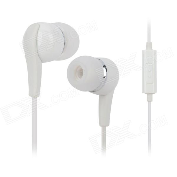 Wired 3.5mm Plug In-Ear Earphones w/ Microphone / Receive / Hang-Up for Samsung Galaxy Note 2
