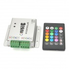 288W IR Remote Control LED RGB Strip Music Controller - Black + Silver + Multicolored (12~24V)