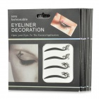 Cosmetic Double Eyelid Sticker / Eye Line Stickers - Black + Silver (8 PCS)