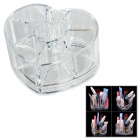 Heart Style 8-Compartment Jewelry / Cosmetic Organizer Storage Box - Transparent