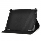 "Protective PU Leather Case w/ Stand for Tablets Within 10.1"" - Black"