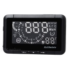 "ASH-3 2.7"" LED Car HUD Head-Up Voltage & Speed w/ Reflective Film for OBD II - Black"