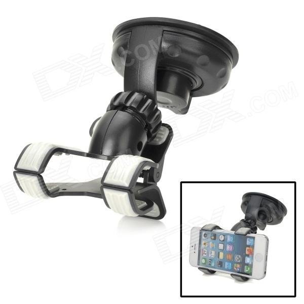 S2227W-V3 360 Degree Rotational Car Mount Holder w/ Suction Cup - Black toz 360 rotating car mount suction cup holder for gps 1 4 camera black