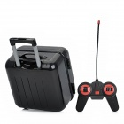 ABS 2-CH Mini R/C Trolley Case / Suitcase Model Toy w/ Remote Control - Black