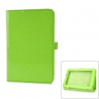 "Fashion Protective PU Leather Case w/ Stand for 7"" Tablets Acer A110 - Lawn Green"