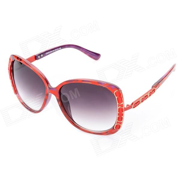 LANGTEMENG C56295-480 UV400 Protection Resin Lens for Women - Red langtemeng c56334 fashion women s uv400 protection plastic frame resin lens sunglasses white red