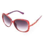 LANGTEMENG C56295-480 UV400 Protection Resin Lens for Women - Red