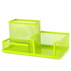 BS-C32-4085 Desktop 3-Case Combination Pen Holder / Card Case Organizer / Storage Box - Grass Green