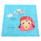 XX-037 Sweet Girl Pattern Multi-Functional Cooling Pad / Pillow / Cushion - Sky Blue + Red + White