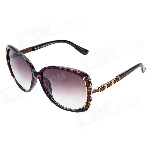 LANGTEMENG C56295-456 UV400 Protection Resin Lens Sunglasses for Women - Brown clip on uv400 protection resin lens attachment sunglasses small