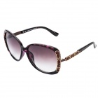 LANGTEMENG C56295-456 UV400 Protection Resin Lens Sunglasses for Women - Brown