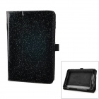 "Fashion Protective PU Leather Case w/ Stand for 7"" Tablets Acer A110 - Black"