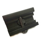 Aluminum Alloy Gun Bipod Adapter for 20mm Rail - Black