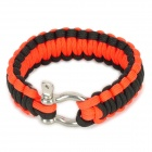Emergency Escaping Parachute Cord Wrist Band - Black + Red