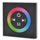 288W LED RGB Light Strip Touch Panel Controller - Black + Silver (DC 12~24V)