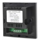 Glass 1-Channel Touch Panel LED Dimmer Controller - Black (DC 12~24V)