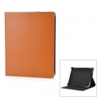 "Protective PU Leather Case w/ Stand for Tablets Within 10.1"" - Brown + Black"