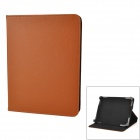 "Protective PU Leather Case w/ Stand for Tablets Within 8"" - Brown + Black"