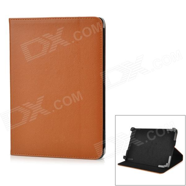Protective PU Leather Case w/ Stand for Tablets Within 9 - Brown + Black soft neoprene protective pouch case for ipad 9 7 tablets black