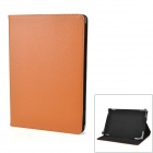 "Protective PU Leather Case w/ Stand for Tablets Within 9.7"" - Brown + Black"