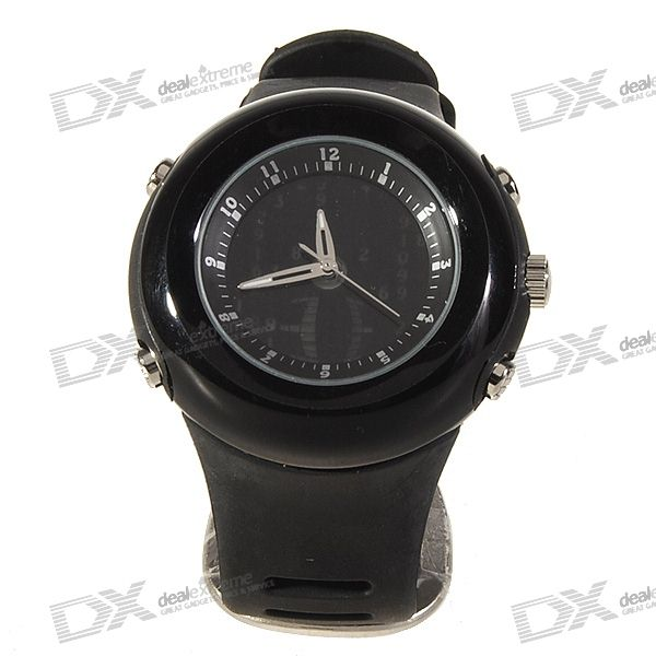 Matrix Style LCD Falling Numbers Fashion Watch (Black)