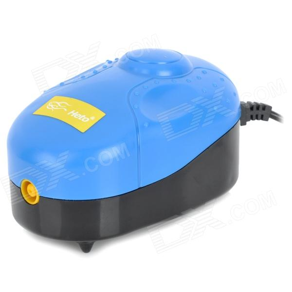 E5HT X-5 Trackball Oxygen Increasing Air Pump w/ 2-Round-Pin Plug for Fish Tank - Black + Blue