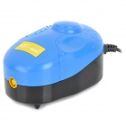X-5 Trackball Oxygen Increasing Air Pump w/ 2-Round-Pin Plug for Fish Tank - Black + Blue
