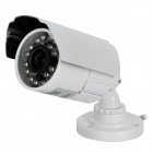"Zhueran ZEA-AFS001 1/3"" CMOS Surveillance Security Camera w/ 24-LED IR Night Vision - White"