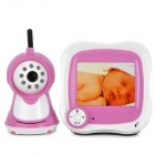 "830S 3.5"" LCD 2.4GHz Wireless Surveillance Camera Baby Monitor w/ 8-IR LED Night Vision - Deep Pink"