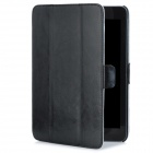 Fashionable Protective PU Leather Case for iPad Mini - Black