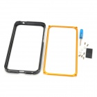 Protective Aluminum Alloy Bumper Case for Iphone 5 - Black + Golden