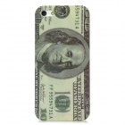 100 US Dollars Style Protective ABS Back Case for Iphone 5 - Light Green + Grey